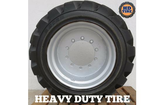 (2) 15-625 Used Foam Filled Tire/Wheel 24.5 x13, 10 Bolt For JLG800S, 800AJ