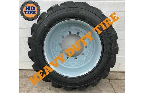 (4) 39x15-22.5 Used Foam Filled Tire, 39x15X22.5, 391522.5, 39-15225, 3915225 Tyre