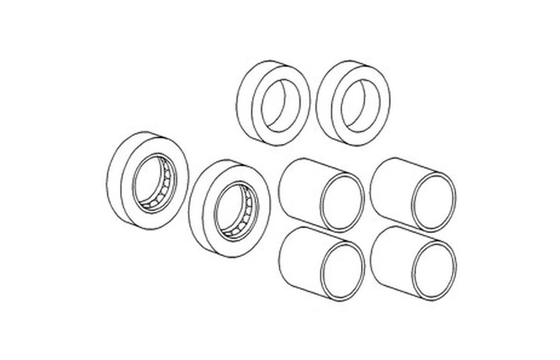 196165M1 SPINDLE BUSHING, BEARING & SEAL KIT