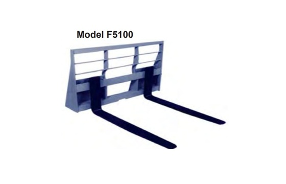 Dura Max F5100 Pallet Fork Frame - 5500 lbs. capacity, UQA