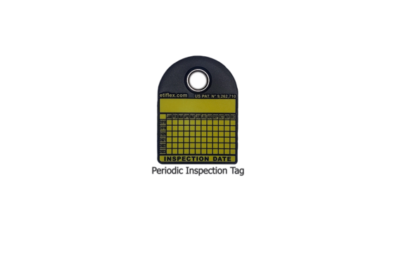 100 Six-Year Periodic Inspection Tags with Custom Hole Puncher
