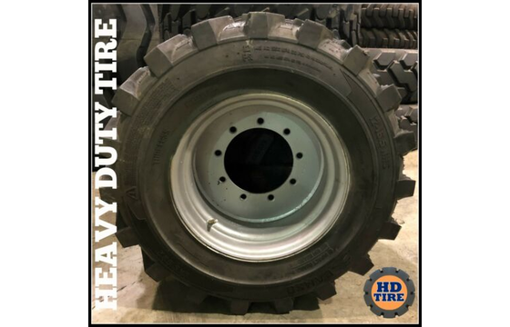 (2) 12-16.5 NEW AIR FILLED TIRE ON 9X9.5 WHEEL  12x16.5,12165  TYRE
