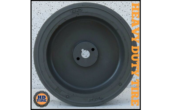 10 x 3  Solid Tire on a Hub Wheel, 10-3 Tyre Non-Marking X 1