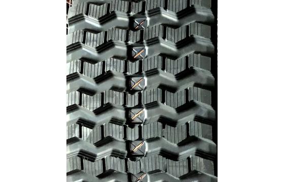 400X86X50 Rubber Track - Fits Case Model: 440CT, ZigZag Tread Pattern