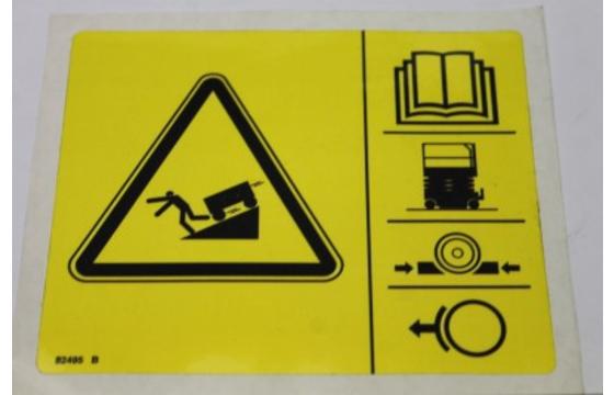Decal Safety Brake Release Symbol Genie Part 82495GT