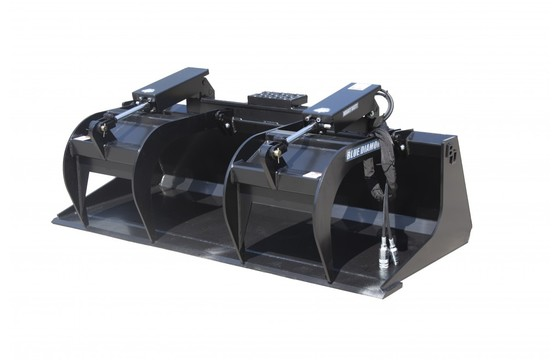"""Grapple Bucket 66"""" Hd, Dual Clamps"""