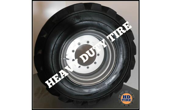 (2) 12-16.5 Used OTR Foam Filled 12 Ply Tire On 9X9.5 Wheel, 12X16.5, 12165 Tyre