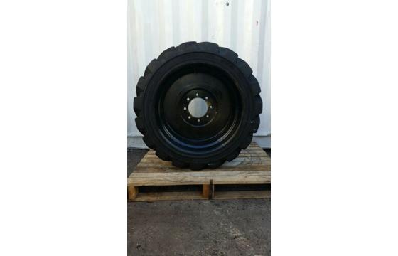 14-17.5 OTR Loader Skid Steer Foam Fill 14 ply 8 Bolt Wheel X 2