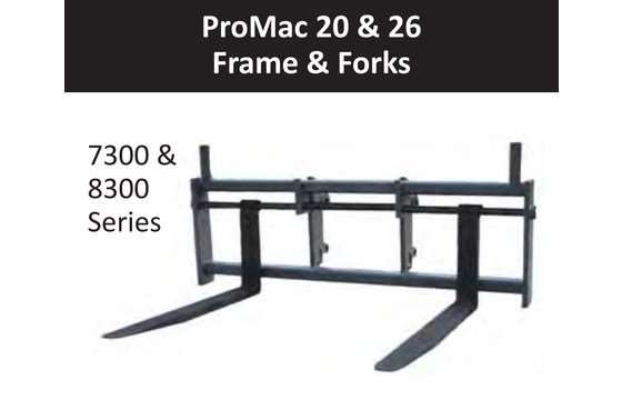 "60"" Wide Frame - Promac - 26,000 lbs. Capacity, Non-Swing For Wheel Loaders - JRB-6"